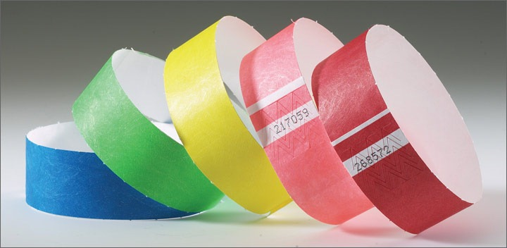 Custom paper party wristbands