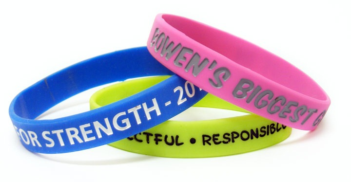 silicon product silicone bracelets wristbands dual sleek bands layer