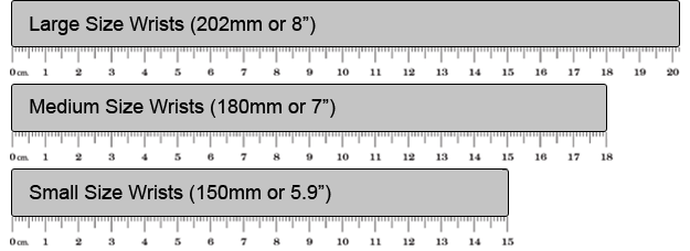 Message Wristband Sizes