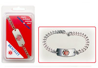 Medical Alert Stainless Wristbands