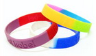 Silicone Wristbands - Multi-Colour Striped