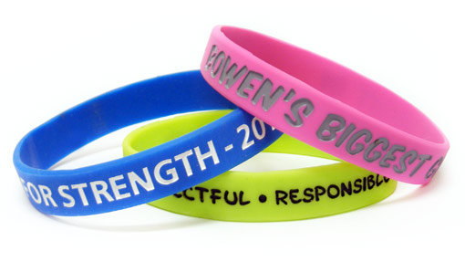 Ink Infill Silicone Wristbands