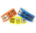 Age Verified Over 18 Wristbands