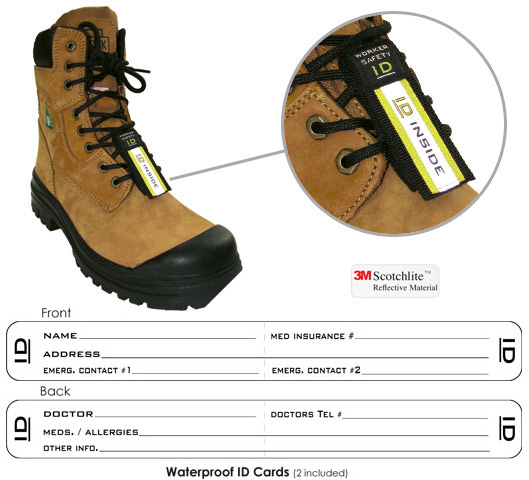 Boot Id Worksafe Id Emergency Id For Employees Contractors And